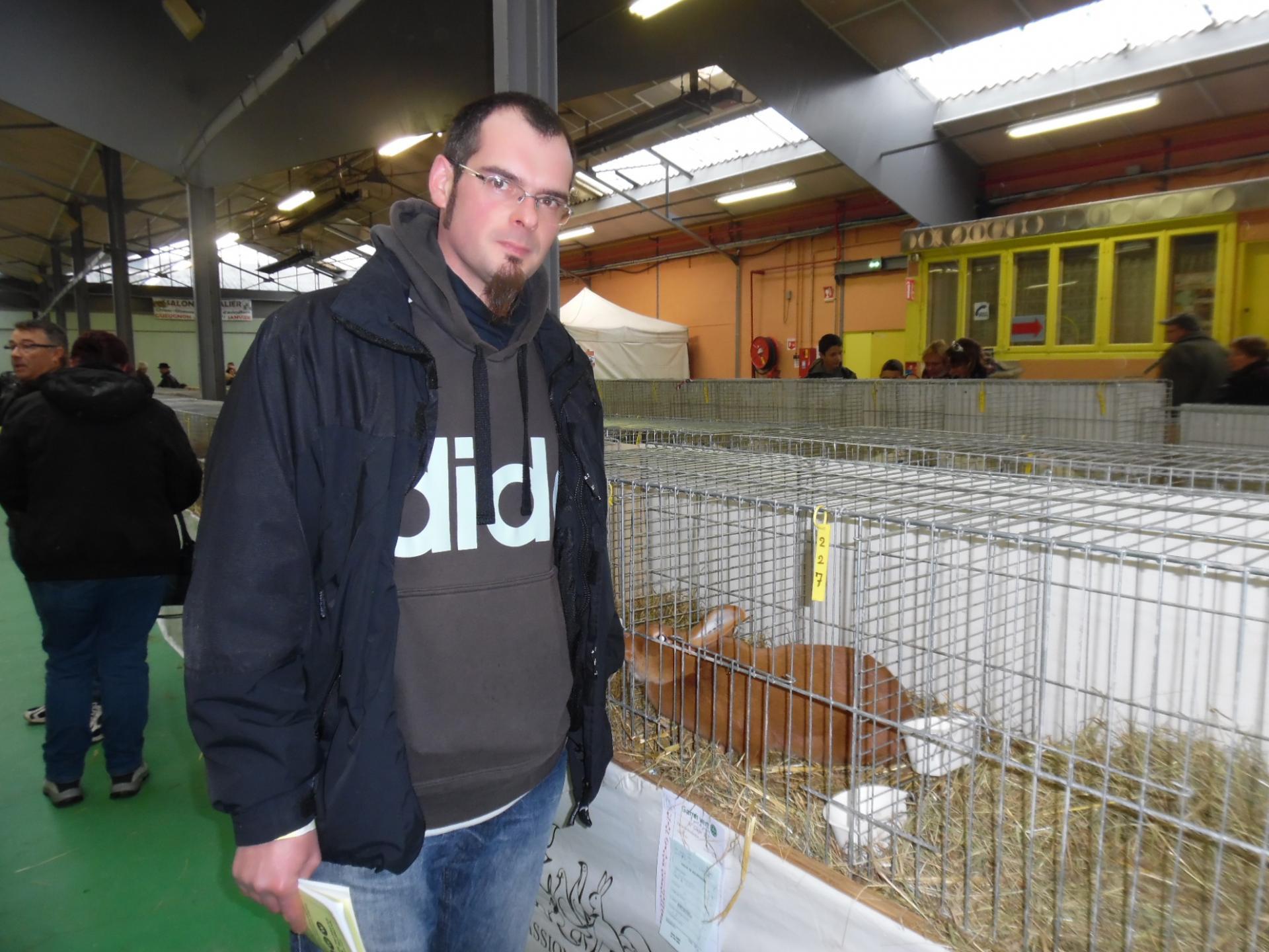 Alexandre greze vers sa femelle cage 227 meilleur sujet des races moyennes