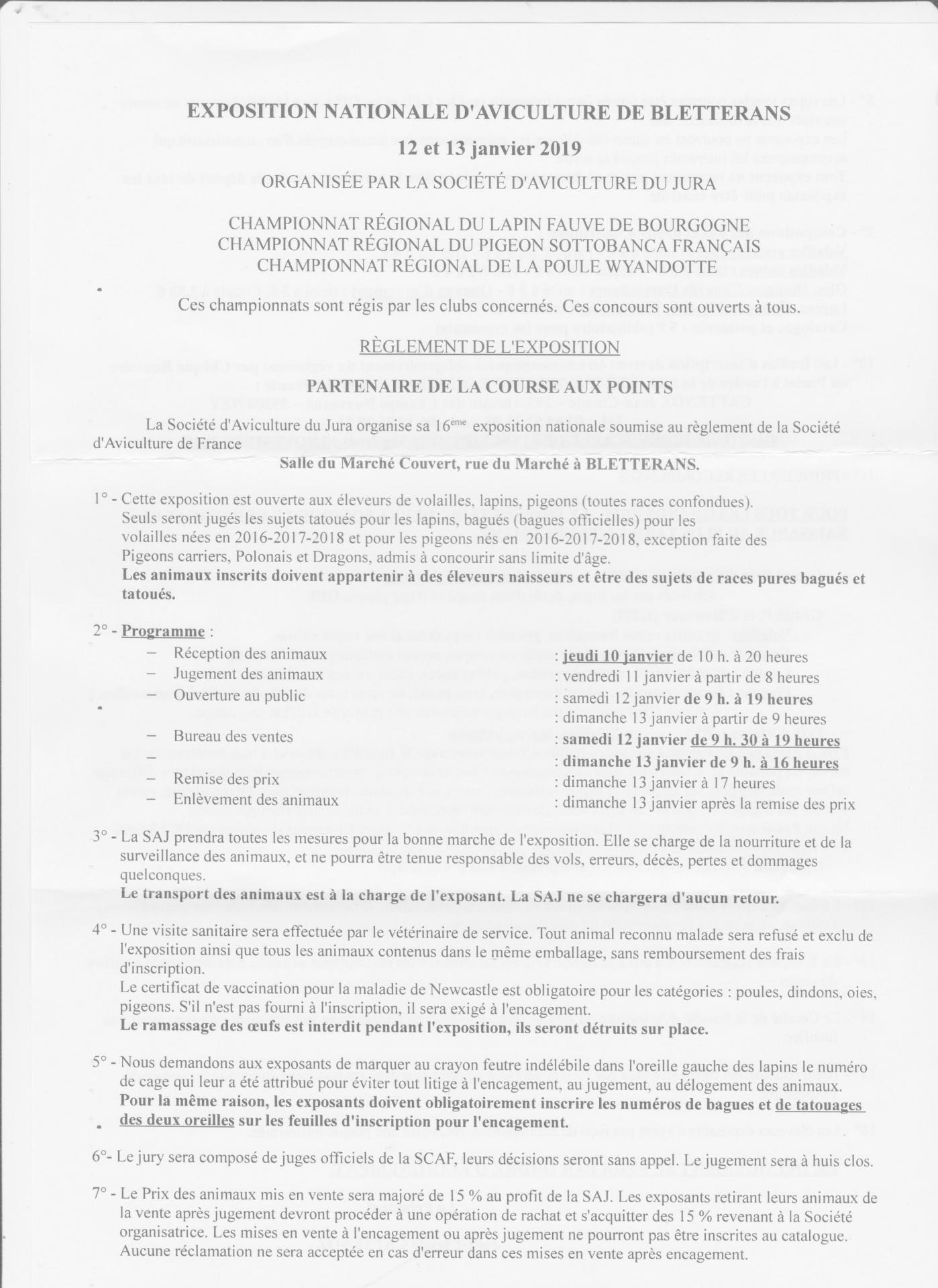 Bletterans 2019 reglement de l exposition 001