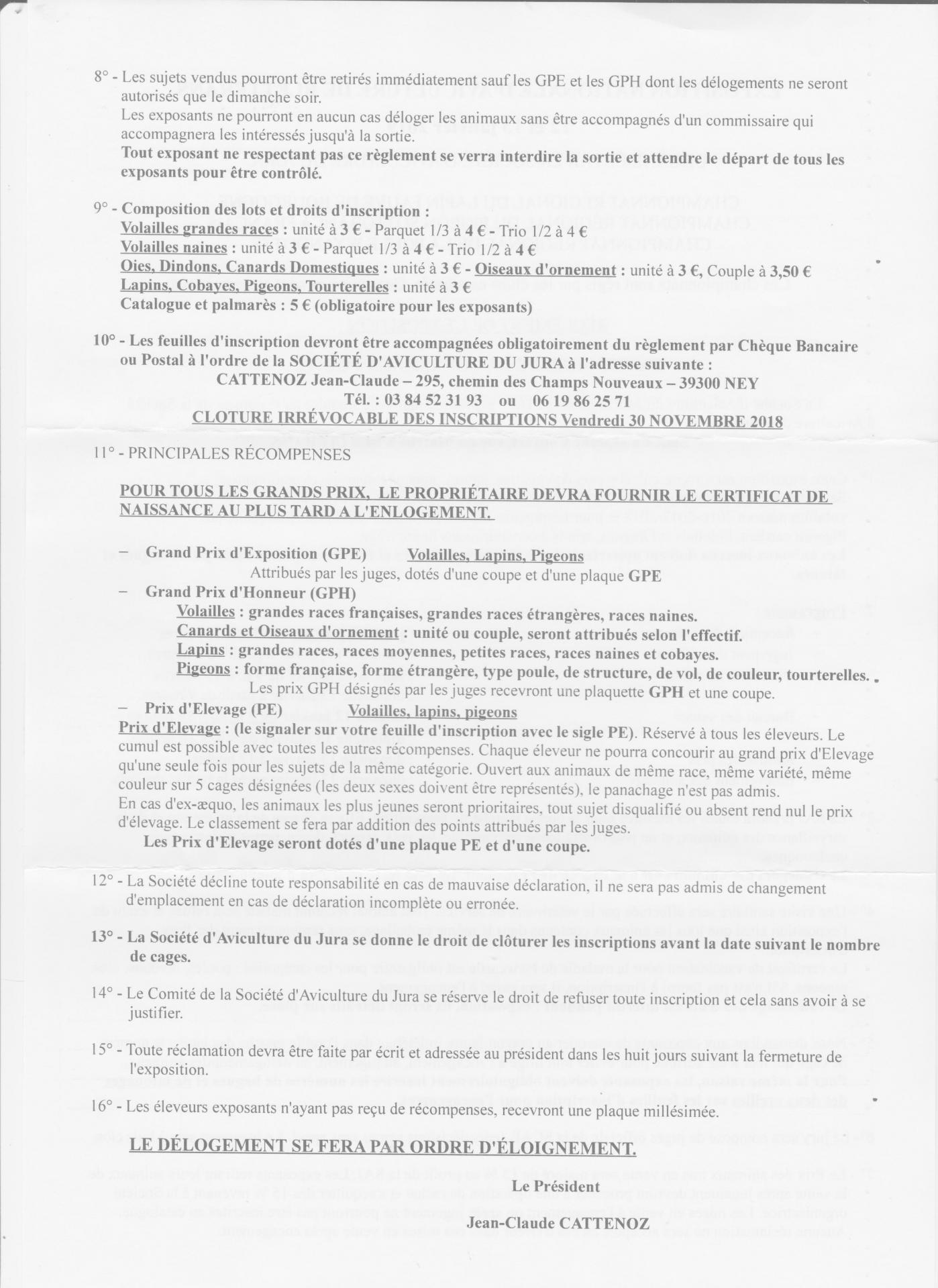 Bletterans 2019 suite reglement 001